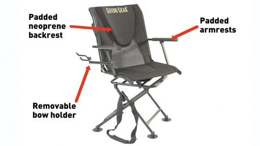 Guide Gear Comfort Swivel Blind Chair - image 4 from the video