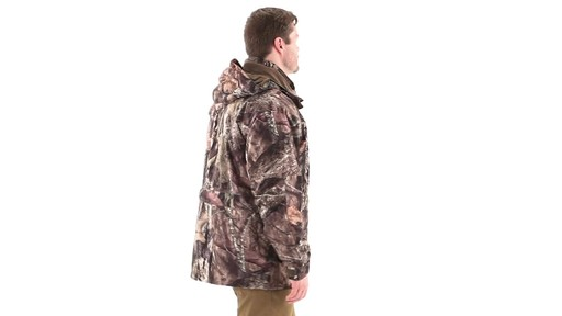 Guide Gear Steadfast 4-in-1 Hunting Parka 150 Gram Thinsulate Platinum with X-Static Waterproof 360 View - image 2 from the video