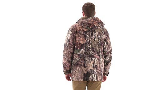 Guide Gear Steadfast 4-in-1 Hunting Parka 150 Gram Thinsulate Platinum with X-Static Waterproof 360 View - image 3 from the video