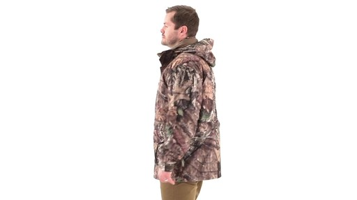 Guide Gear Steadfast 4-in-1 Hunting Parka 150 Gram Thinsulate Platinum with X-Static Waterproof 360 View - image 4 from the video