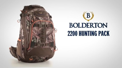 Bolderton 2200 Hunting Pack, Mossy Oak Break Up Country - image 1 from the video