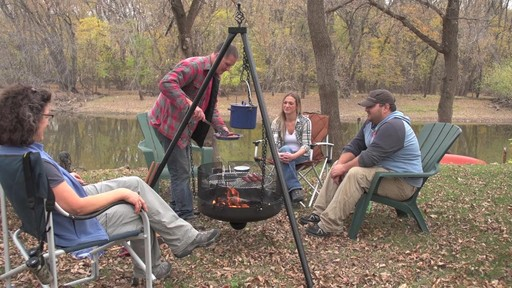 Guide Gear XL Heavy-duty Campfire Tripod System - image 10 from the video