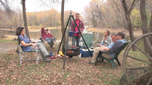 Guide Gear XL Heavy-duty Campfire Tripod System - image 2 from the video