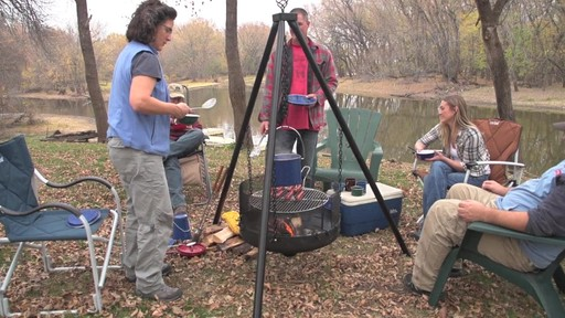 Guide Gear XL Heavy-duty Campfire Tripod System - image 7 from the video