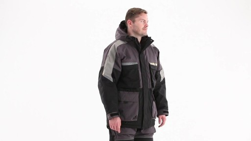 Guide Gear Men's Waterproof Ice Parka 360 View - image 3 from the video