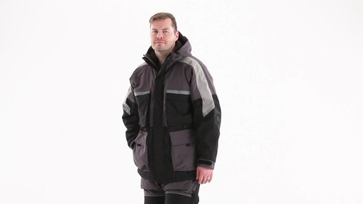 Guide Gear Men's Waterproof Ice Parka 360 View - image 8 from the video