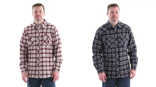 Guide Gear Men's Brushed Flannel Long Sleeve Shirt 360 View - image 1 from the video