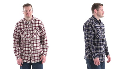 Guide Gear Men's Brushed Flannel Long Sleeve Shirt 360 View - image 2 from the video