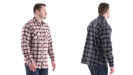 Guide Gear Men's Brushed Flannel Long Sleeve Shirt 360 View - image 3 from the video