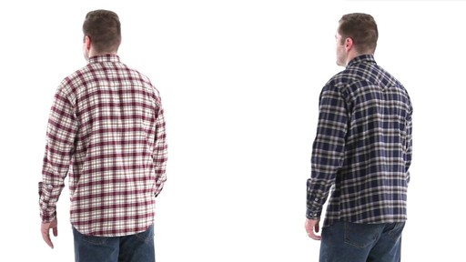 Guide Gear Men's Brushed Flannel Long Sleeve Shirt 360 View - image 6 from the video