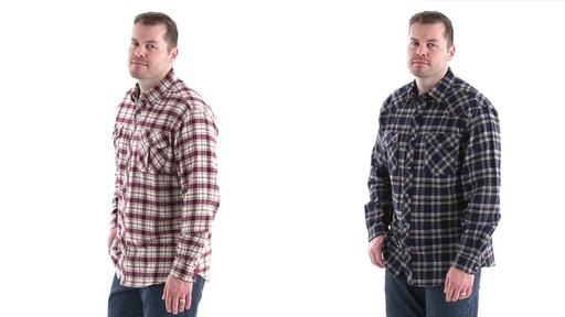 Guide Gear Men's Brushed Flannel Long Sleeve Shirt 360 View - image 8 from the video
