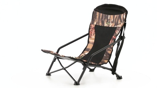 HuntRite Long Beard Lounger Seat 300 lb. Capacity 360 View - image 2 from the video