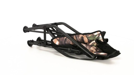 HuntRite Long Beard Lounger Seat 300 lb. Capacity 360 View - image 9 from the video