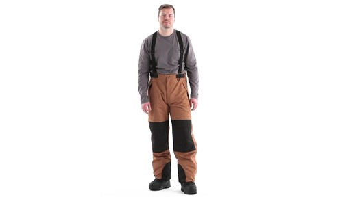 Guide Gear Men's Waterproof Suspender Snow Pants 360 View - image 9 from the video