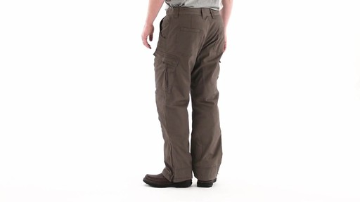 Guide Gear Men's Quilt-lined Canvas Work Pants 360 View - image 5 from the video