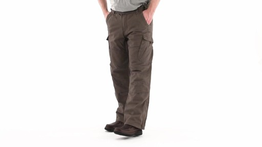 Guide Gear Men's Quilt-lined Canvas Work Pants 360 View - image 7 from the video