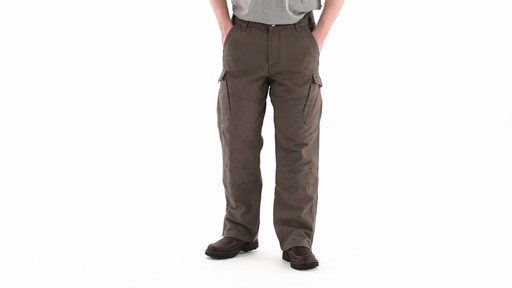Guide Gear Men's Quilt-lined Canvas Work Pants 360 View - image 8 from the video