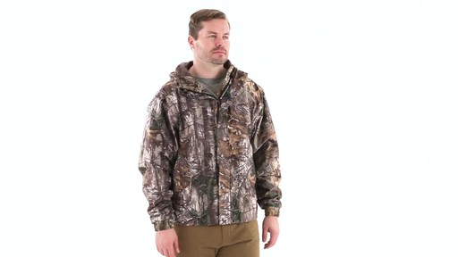 Guide Gear Men's Camo Rain Jacket 360 View - image 1 from the video