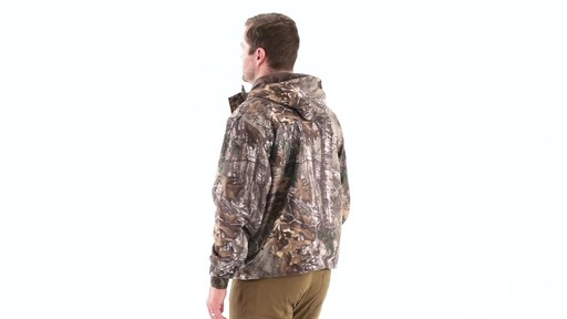 Guide Gear Men's Camo Rain Jacket 360 View - image 5 from the video
