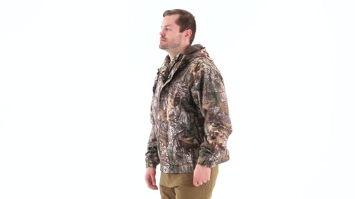 Guide Gear Men's Camo Rain Jacket 360 View - image 6 from the video