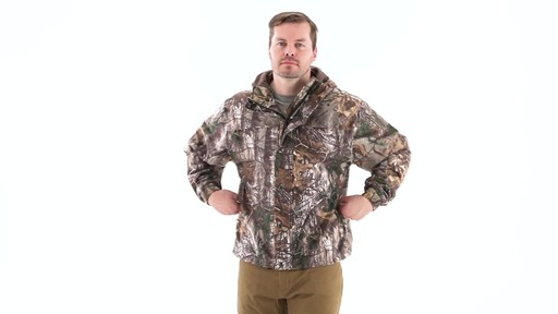 Guide Gear Men's Camo Rain Jacket 360 View - image 7 from the video