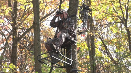Guide Gear Deluxe Hunting Hang-on Tree Stand - image 5 from the video