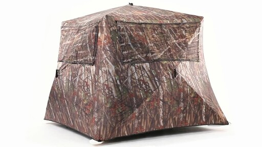 Guide Gear Camo Flare Out 5-Hub Ground Hunting Blind 360 View - image 2 from the video