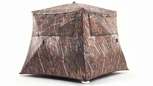 Guide Gear Camo Flare Out 5-Hub Ground Hunting Blind 360 View - image 4 from the video