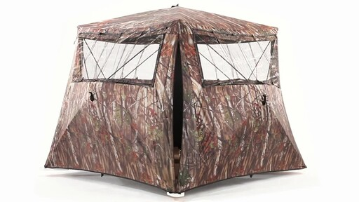 Guide Gear Camo Flare Out 5-Hub Ground Hunting Blind 360 View - image 7 from the video