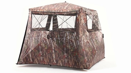 Guide Gear Camo Flare Out 5-Hub Ground Hunting Blind 360 View - image 9 from the video