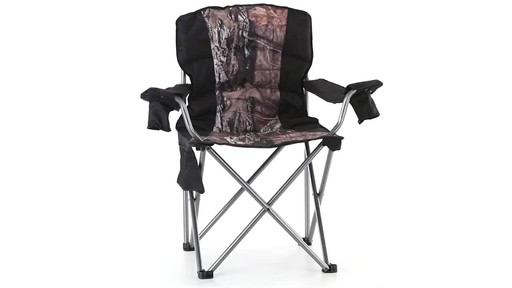 Guide Gear Mossy Oak Break-Up COUNTRY Oversized King Chair 500-lb.Capacity 360 View - image 4 from the video