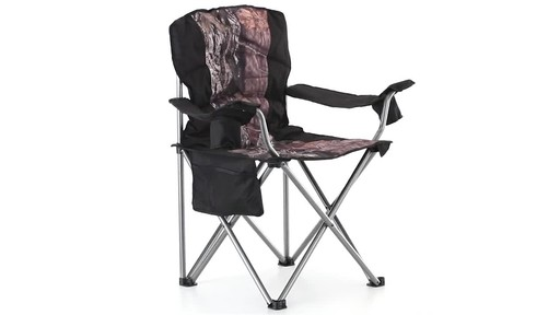Guide Gear Mossy Oak Break-Up COUNTRY Oversized King Chair 500-lb.Capacity 360 View - image 5 from the video