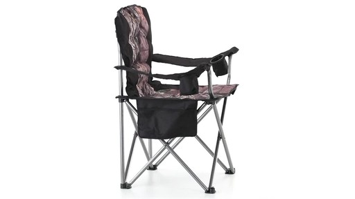 Guide Gear Mossy Oak Break-Up COUNTRY Oversized King Chair 500-lb.Capacity 360 View - image 6 from the video