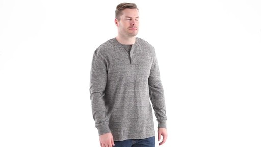 Guide Gear Men's Double-lined Long Sleeve Henley 360 View - image 1 from the video