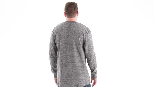 Guide Gear Men's Double-lined Long Sleeve Henley 360 View - image 3 from the video