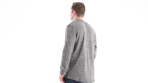 Guide Gear Men's Double-lined Long Sleeve Henley 360 View - image 4 from the video