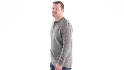 Guide Gear Men's Double-lined Long Sleeve Henley 360 View - image 5 from the video