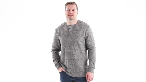 Guide Gear Men's Double-lined Long Sleeve Henley 360 View - image 6 from the video