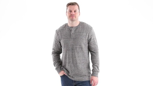 Guide Gear Men's Double-lined Long Sleeve Henley 360 View - image 7 from the video