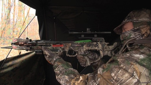 Guide Gear Silent Adrenaline Camo Ground Hunting Blind - image 1 from the video