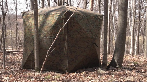 Guide Gear Silent Adrenaline Camo Ground Hunting Blind - image 4 from the video
