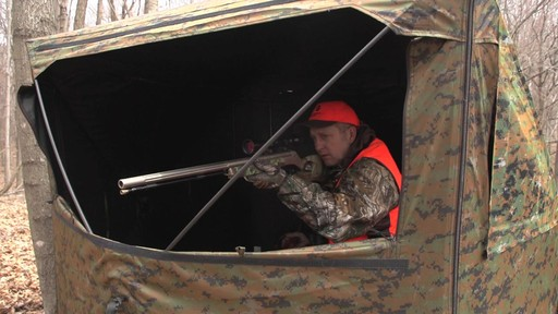 Guide Gear Silent Adrenaline Camo Ground Hunting Blind - image 6 from the video