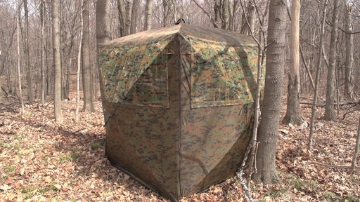 Guide Gear Silent Adrenaline Camo Ground Hunting Blind - image 7 from the video