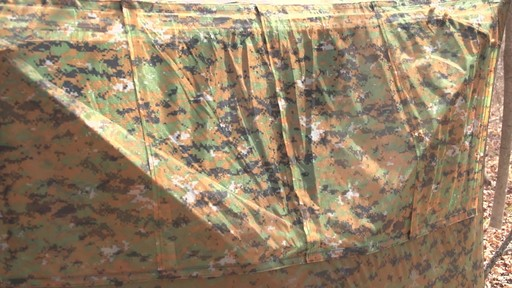 Guide Gear Silent Adrenaline Camo Ground Hunting Blind - image 9 from the video