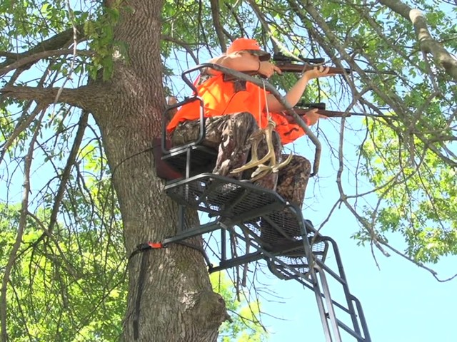 Guide Gear 18' Double Rail 2-man Ladder Tree Stand - image 1 from the video