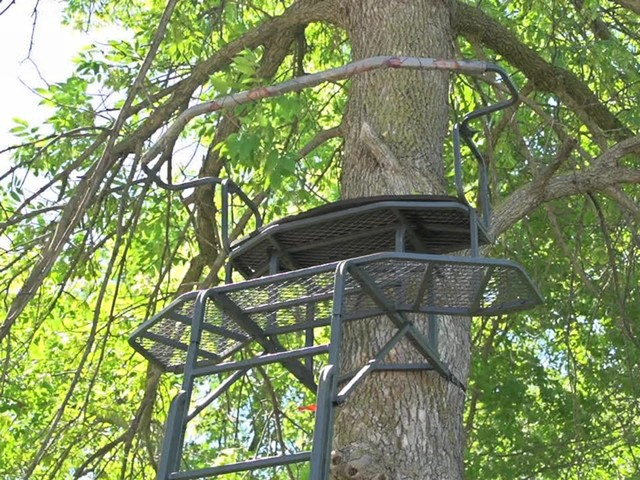 Guide Gear 18' Double Rail 2-man Ladder Tree Stand - image 10 from the video
