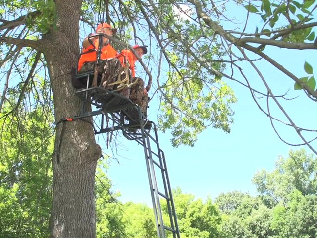 Guide Gear 18' Double Rail 2-man Ladder Tree Stand - image 6 from the video