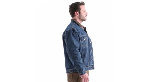 Guide Gear Men's Quilt Lined Denim Jacket 360 View - image 2 from the video