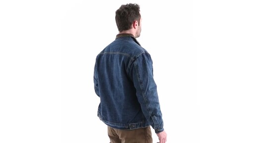Guide Gear Men's Quilt Lined Denim Jacket 360 View - image 3 from the video