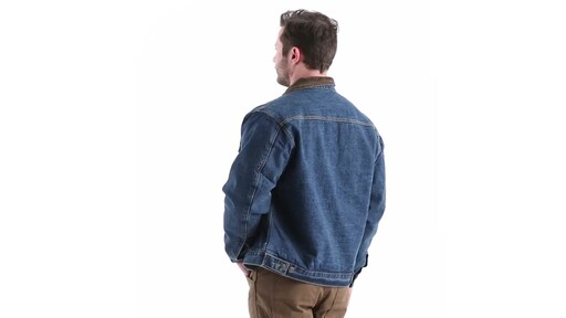Guide Gear Men's Quilt Lined Denim Jacket 360 View - image 5 from the video